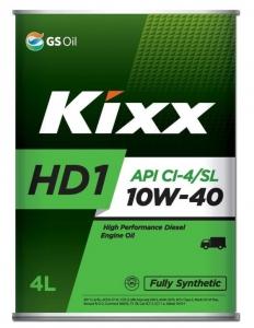 Моторное масло KIXX HD1 CI-4 10W-40 SL/CI-4, A3/B4/E7, 4л