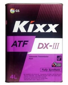 Трансмиссионное масло KIXX ATF DX-III, 4л
