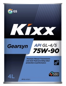 Трансмиссионное масло KIXX GEARSYN GL-4/GL-5 75W-90, 4л