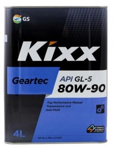 Трансмиссионное масло KIXX GEARTEC GL-5 80W-90, 4л