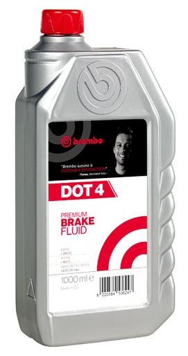 Тормозная жидкость BREMBO DOT 4, 1л