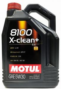 Моторное масло Motul 8100 X-CLEAN+ C3 5W-30, 5л