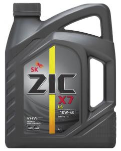 Моторное масло ZIC X7 LS 10W-40, 4л