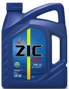 Моторное масло ZIC X5 10W-40, 6л
