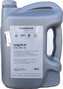 Моторное масло VAG LongLife III 0W-30 (Россия), 5л