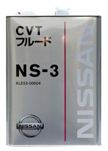 Масло трансмиссионное Nissan NS-3 CVT Fluid (4л)