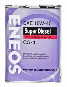Моторное масло ENEOS SUPER DIESEL CG-4 10W-40, 4л