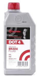 Тормозная жидкость BREMBO DOT 4, 0.5л