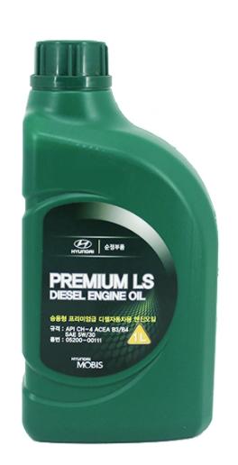 Моторное масло Hyundai Premium LS Diesel 5W-30 CH-4, 1л