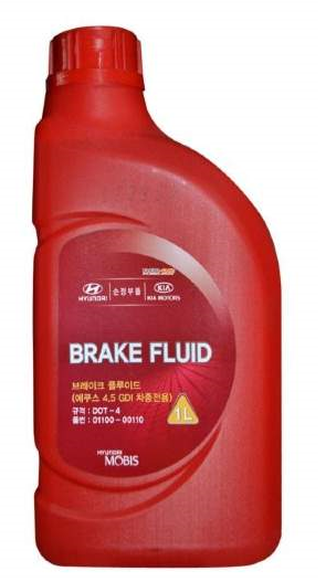 Тормозная жидкость Hyundai DOT-4 Brake Fluid, 1л