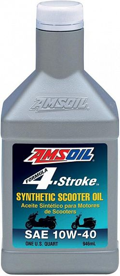 Масло моторное AMSOIL 4Т Formula 4-stroke Synthetic Scooter Oil 10W-40 (0,946л)