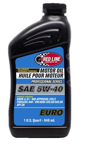 Моторное масло REDLINE OIL 5W-40 PROFESSIONAL-SERIES EURO, 0.95л