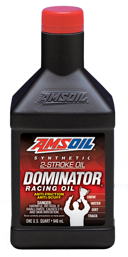 Масло моторное AMSOIL DOMINATOR® Synthetic 2-Stroke Racing Oil (0,946л)