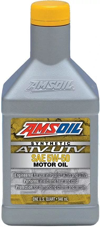 Масло моторное AMSOIL SYNTHETIC ATV/UTV MOTOR OIL SAE 5W-50 (0,946л)