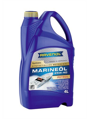 Масло моторное RAVENOL Marineoil PETROL 25W-40 synthetic (4л) new