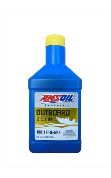 Масло моторное AMSOIL Outboard Synthetic 100:1 Pre-Mix  2-Stroke Oil (0,946л)