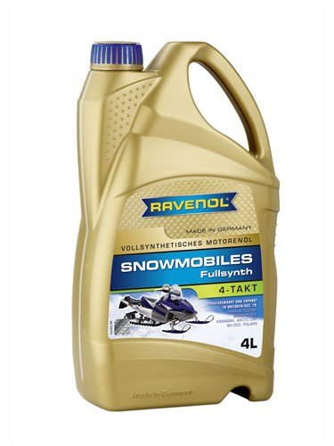 RAVENOL Масло моторное для 4-Такт снегоходов Snowmobiles 4-Takt Fullsynth. (4л) new