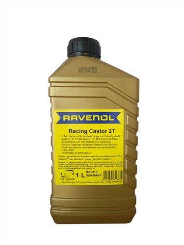 RAVENOL Масло моторное синтетическое для 2-Такт картов Racing Castor 2T (1л)