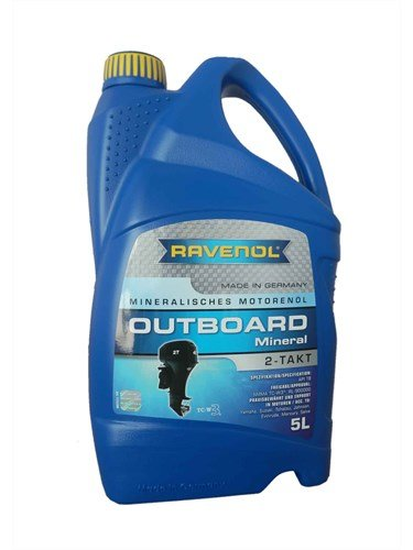 Масло моторное RAVENOL Outboard 2T Mineral (5л) new
