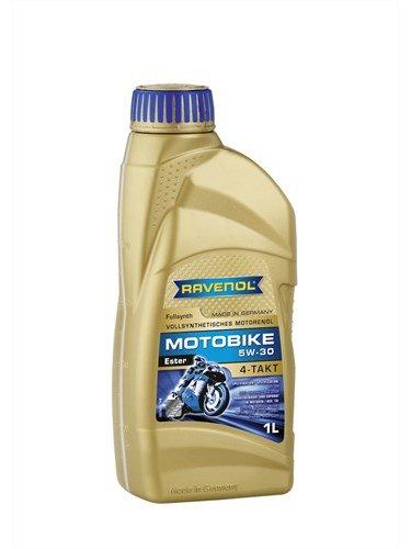 RAVENOL Масло моторное синтетическое Motobike 4-T Ester 5W-30 (1л) new