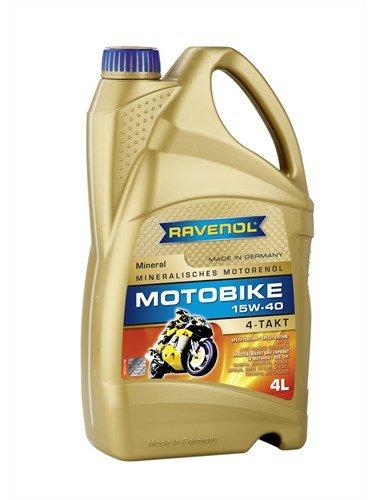 RAVENOL Масло моторное Motobike 4-T Mineral 15W-40 (4л) new