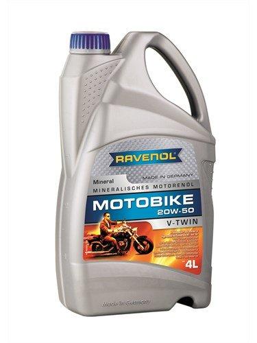 Масло моторное RAVENOL Motobike V-Twin SAE 20W-50 Mineral (4л)