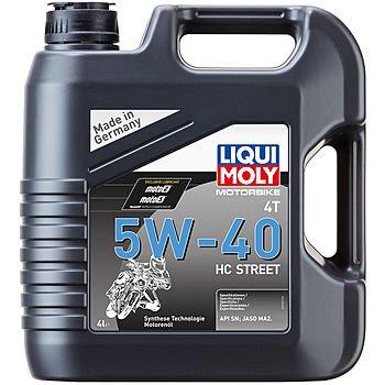 Масло моторное LIQUI MOLY Motorbike 4T 5W-40 HC Street (4л)