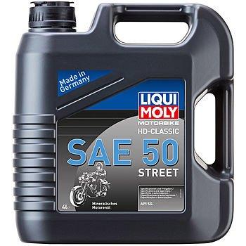 Масло моторное LIQUI MOLY Motorbike 4T HD-Classic Street SAE 50 (4л)