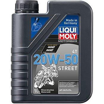 Масло моторное LIQUI MOLY Motorbike 4T Street 20W-50 (1л)