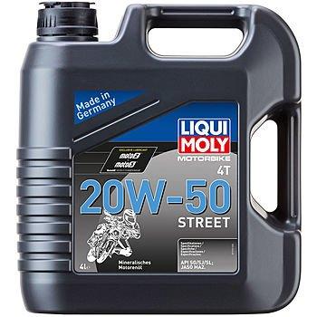 Масло моторное LIQUI MOLY Motorbike 4T Street 20W-50 (4л)