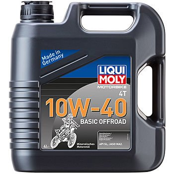 Масло моторное LIQUI MOLY Motorbike 4T 10W-40 Basic Offroad (4л)