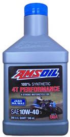 Масло моторное AMSOIL 4T Performance 4-Stroke Motorcycle Oil SAE 10W-40 (0,946л)