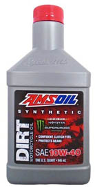 AMSOIL Масло мотоциклетное Synthetic Dirt Bike Oil SAE 10W-40 (0,946л)
