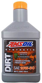 AMSOIL Масло мотоциклетное Synthetic Dirt Bike Oil SAE 10W-50 (0,946л)