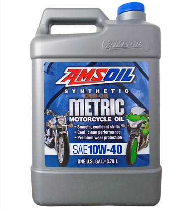 Масло мотоциклетное AMSOIL Synthetic Metric Motorcycle Oil SAE 10W-40 (3,784л)