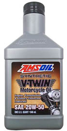 AMSOIL Масло мотоциклетное Synthetic V-Twin  Motorcycle Oil SAE 20W-50 (0,946л)