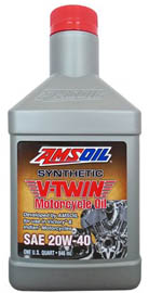 Масло мотоциклетное AMSOIL Synthetic V-Twin Motorcycle Oil SAE 20W-40 (0,946л)