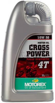 Масло моторное MOTOREX Cross Power 4Т SAE 10W-50, 1л
