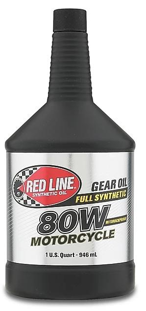 Масло трансмиссионное для мотоциклов REDLINE OIL 80W ShockProof® (0,95л)
