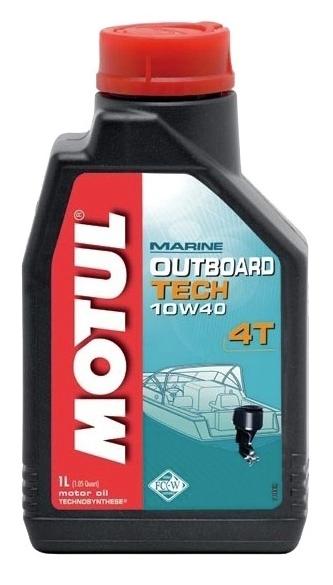 Моторное масло Motul OUTBOARD TECH 4T 10W-40, 1л