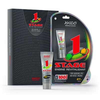 XADO Ревитализант 1Stage для бензиновых и дизельных двигателей (27мл)