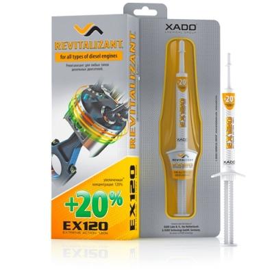 XADO Ревитализант EX120 для дизельных двигателей (шприц) блистер 8мл
