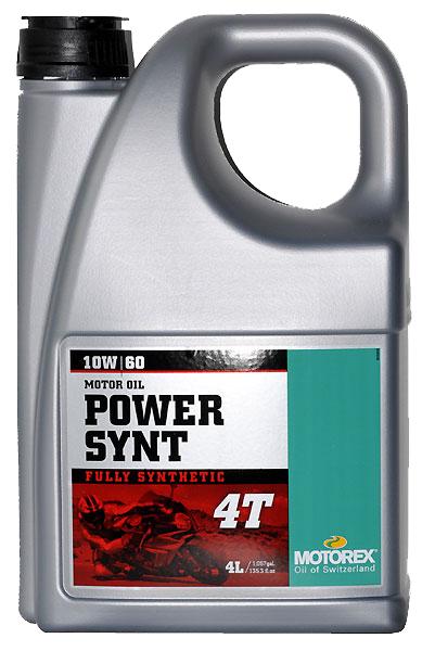 Масло моторное MOTOREX Power Synt 4Т SAE 10W-60, 4л