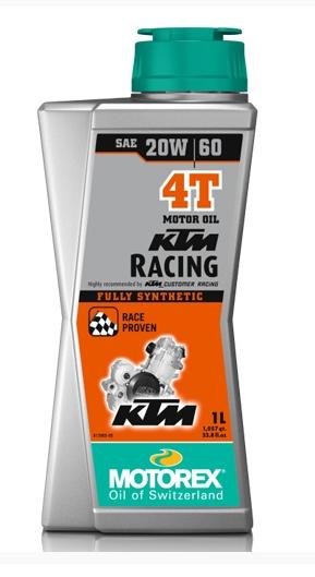 Масло моторное MOTOREX KTM RACING 4T 20W-60, 1л